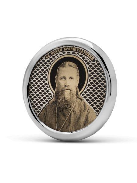 Круглая автомобильная икона Иоанн Кронштадтский (С-40 И.К.)
