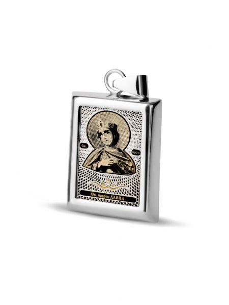 """Прямоугольная икона подвеска """"Св. пророк Давид"""" (арт. С-П20 Давид)"""