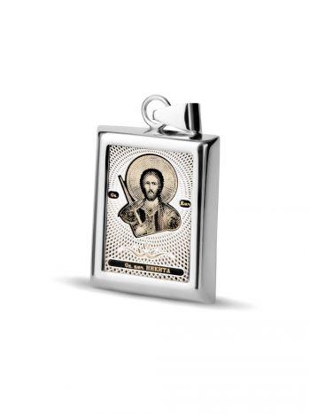 """Фото - Прямоугольная икона подвеска """"Св. великомученик Никита"""" (арт. С-П20 Никита)"""