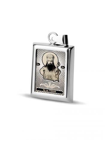 """Фото - Прямоугольная икона подвеска """"Св. епископ Тихон"""" (арт. С-П20 Тихон)"""
