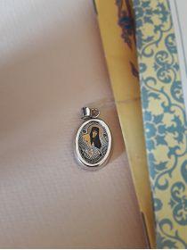 """Овальная икона подвеска """"Св. преподобная Аполлинария"""" (арт. С-020 Аполлинария)"""