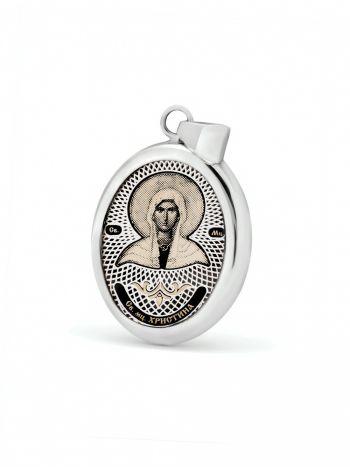 """Фото - Овальная икона подвеска """"Св. мученица Христина"""" (арт. С-020 Христина)"""