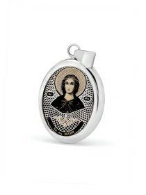 """Овальная икона подвеска """"Св. мученица Юлия"""" (арт. С-020 Юлия)"""