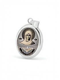 """Овальная икона подвеска """"Св. мученица Татиана"""" (арт. С-020 Татиана)"""