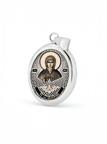 """Фото - Овальная икона подвеска """"Св. мученица Валерия"""" (арт. С-020 Валерия)"""