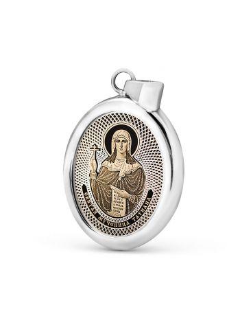 """Фото - Овальная икона подвеска """"Святая мученица Татиана Римская"""" (арт. С-027 Татиана)"""
