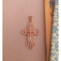 """Нательный крест """"Распятие Христово и Ангел Хранитель"""""""