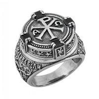 """Перстень """"Боже милостив буди мне грешному"""" (арт. К-568 ч)"""