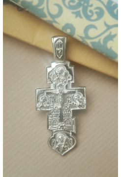 """Крест """"Распятие Христово. Покров Пресвятой Богородицы"""" (арт. КР-255)"""