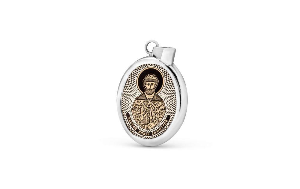 """Овальная икона-подвеска """"Святой Димитрий Донской"""""""
