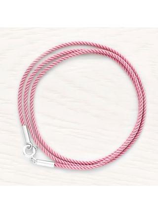 Шнурок шелковый крученый  (арт. 700021-550) розовый