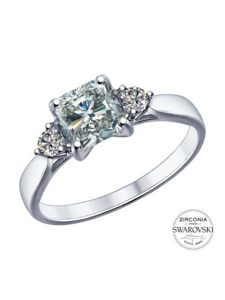 Помолвочное кольцо с Swarovski Zirconia (арт. 89010033)
