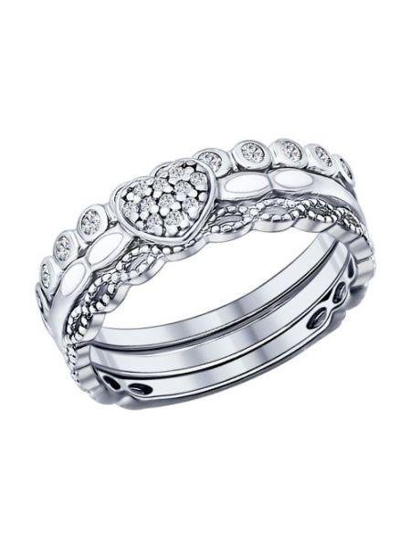 Наборное кольцо с фианитами (арт. 94011705)