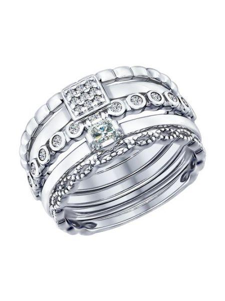 Наборное кольцо из серебра (арт. 94011707)