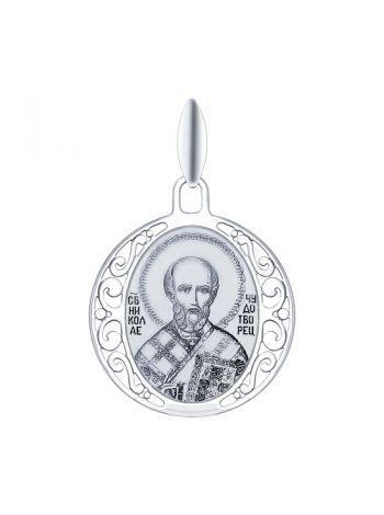 """Фото - Серебряная иконка """"Святитель архиепископ Николай Чудотворец"""" (арт. 94100249)"""