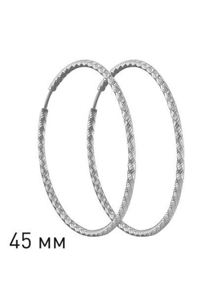 Серьги конго из серебра с алмазной гранью (арт.94140031)