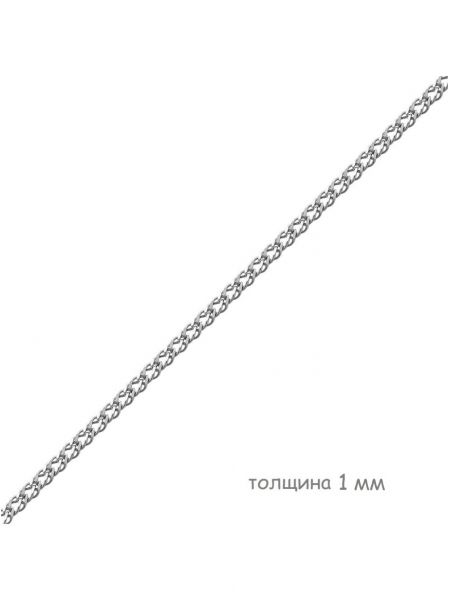 Цепочка родированная двойной ромб (арт. Ц1РМ27РО052050)