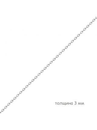 Цепочка родированная якорная с алмазной гранью (арт. Ц1ЯК17РО070080)