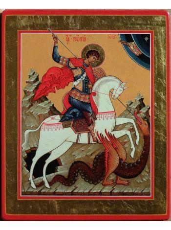 """Фото - Икона """"Традиции Золотого Века  Чудо св. Георгия о Змие"""""""