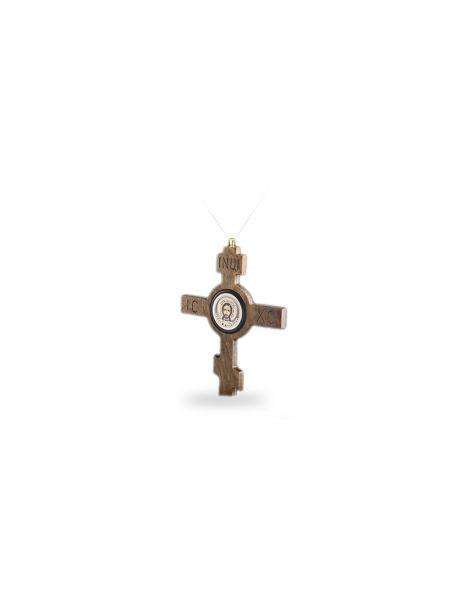 """Православный крест на веревке """"Спаситель"""" (арт. ДКР-02)"""