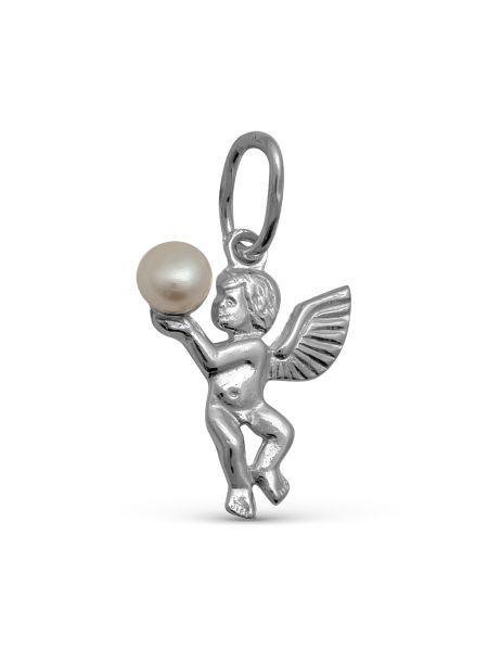 Серебряная подвеска с жемчугом (арт. 3-211)