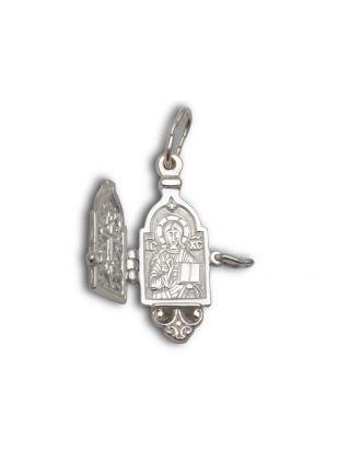 Подвеска-складень со святым образом и молитвой (арт. м-001)