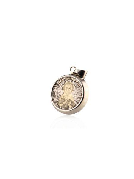 """Круглая икона подвеска """"Святая мученица Дария Римская"""" (арт. С-25 Дария)"""