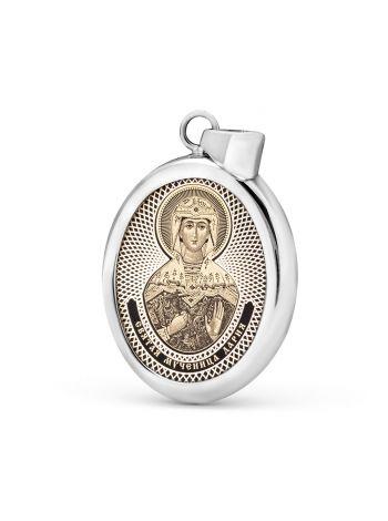 """Фото - Овальная икона подвеска """"Святая мученица Дария Римская"""" (арт. С-027 Дария)"""