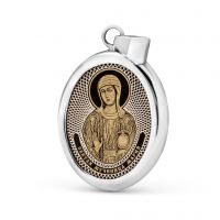 """Овальная икона подвеска """"Святая равноапостольная Мария Магдалина"""" (арт. С-027 Мария)"""