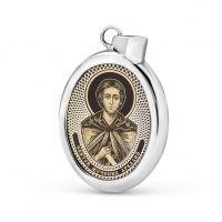 """Овальная икона подвеска """"Аркадий"""" (арт. С-027 Аркадий)"""