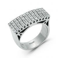 Серебряное кольцо со вставкой (арт. А 22)