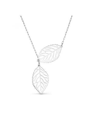 """Колье """"Серебряные листья"""" (арт. Т74011436)"""