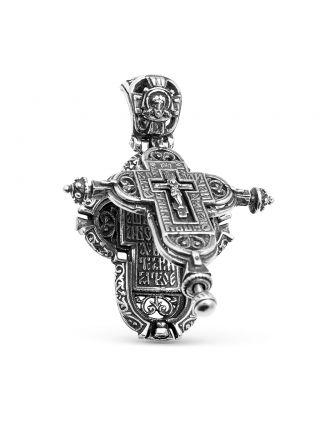 """Крест мощевик """"Распятие Христово. Святая Троица"""" с молитвой (арт. М-024 ч)"""