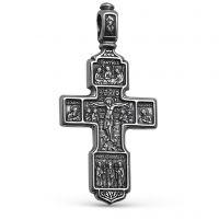"""Нательный крест """"Спаситель и Господь Вседержитель"""" серебряный"""