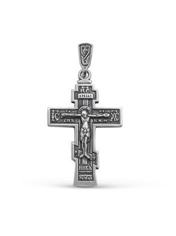 """Нательный крест """"Распятие Христово"""" с молитвой (арт. 3-130 ч)"""