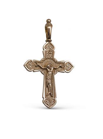 """Фото - Православный крестик """"Распятие Христово"""" с молитвой"""