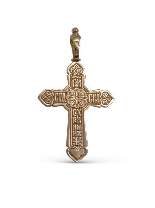 """Православный крестик """"Распятие Христово"""" с молитвой"""