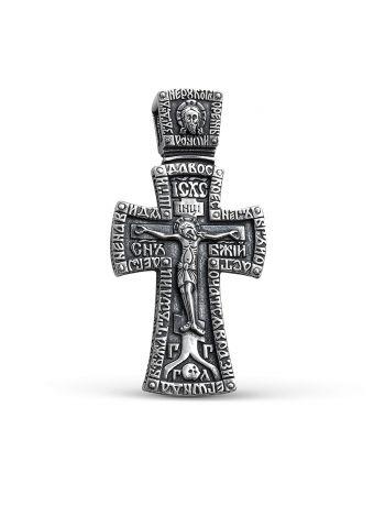 """Фото - Нательный крест с молитвой """"Распятие Христово и Ангел Хранитель"""" (арт. 3-313 ч)"""