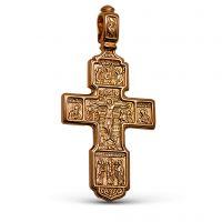 Нательный крест с Распятием и молитвой «Спаси и сохрани» позолоченный