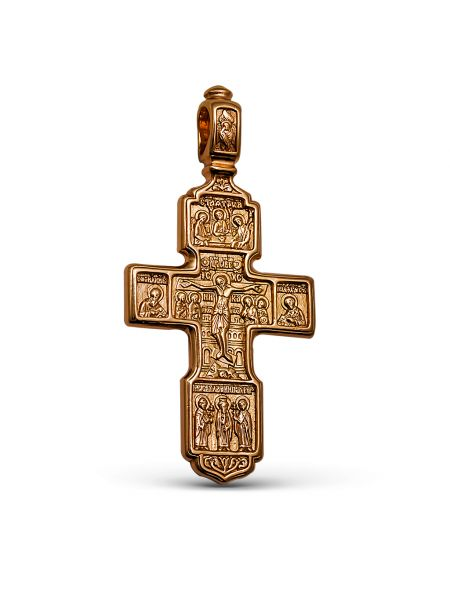 Нательный крест с Распятием и молитвой «Спаси и сохрани» (арт. 3-315 з)