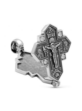 """Крест мощевик  """"Распятие Христово"""" с молитвой (арт. М-008 ч)"""