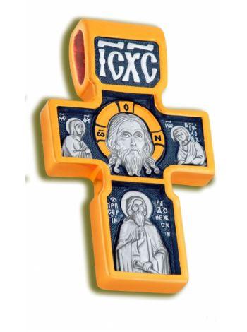 Нательный крест «Нерукотворный Спас, Архангел Михаил» (арт. КСЧЗ 3420)