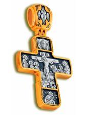 Нательный крест «Распятие Господа нашего, Знамение» (арт. КСЧЗ 6033)