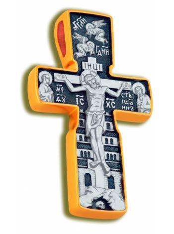 Нательный крест «Распятие и Отцы Церкви» (арт. КСЧЗ 4226)