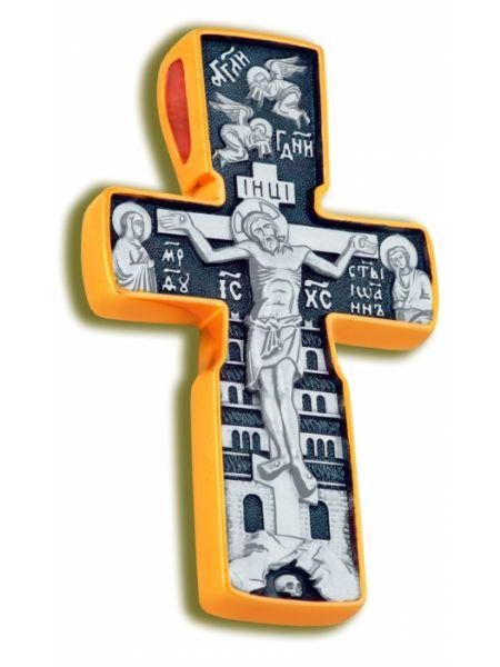 Нательный крест «Распятие и Отцы Церкви»