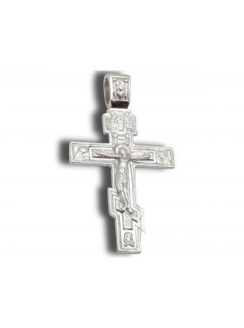 Фото - Нательный крест с Распятием и молитвой восьмиконечный