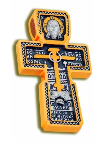 Нательный крест «Русский Север» с молитвой (арт. КСЧЗ 4021)