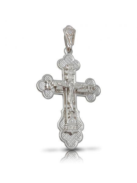 """Нательный крест с Распятием и молитвой """"Спаси и сохрани"""" (арт. 3-135)"""