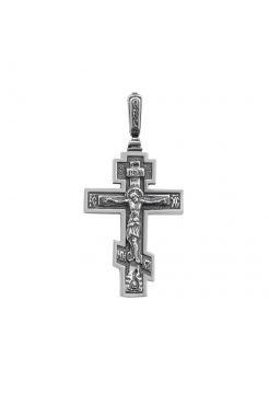 Нательный крест с Распятием и молитвой православный