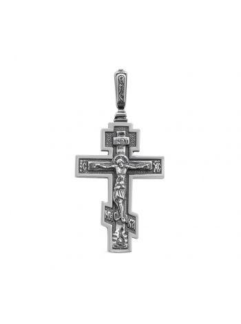 Нательный крест с Распятием и молитвой (арт.3-001 ч)